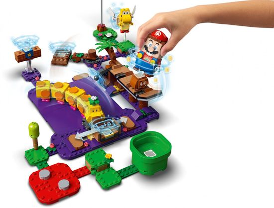 LEGO Super Mario™ 71383 Trujące bagno Wigglera — zestaw rozszerzający