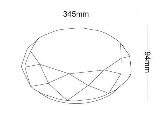 Asalite stropna LED luč - Star, diamant, 18 W, 3000 K, 1350 lm