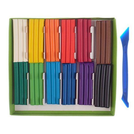 Gamma 2 sady, měkké plastelíny (vosk) 12 barvy 180 g