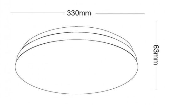 Asalite stropna LED luč – Opal, okrogla, 18 W, 4000 K, 1350 lm