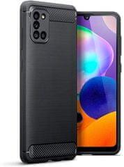 Ovitek za Samsung Galaxy A31 A315, silikonski, mat karbon črn