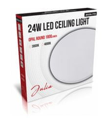 Asalite stropna LED luč – Opal, okrogla, 24 W, 4000 K, 1800 lm