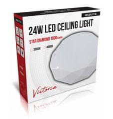 Asalite stropna LED luč – Star, diamant, 24 W, 4000 K, 1800 lm