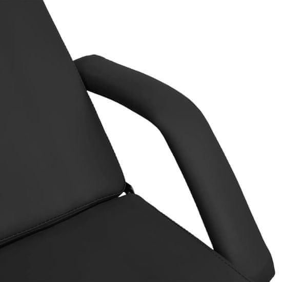 shumee fekete masszázsasztal 180 x 62 x (86,5-118) cm