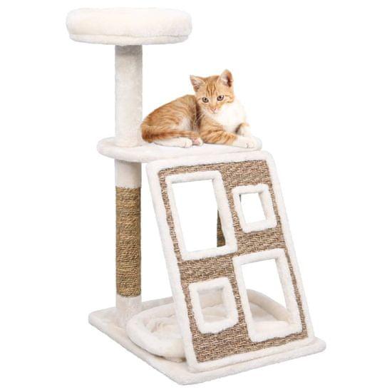 shumee mačka za praskanje Cat z blazino in stebrom 89 cm morska trava