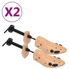shumee Prawidła do butów, 2 pary, rozmiar 36-40, lite drewno sosnowe