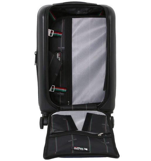 Mia Toro Cestovní kufr MIA TORO M1709/2-L - černá/modrá