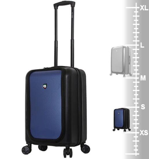 Mia Toro Cestovní kufr MIA TORO M1709/2-S - černá/modrá