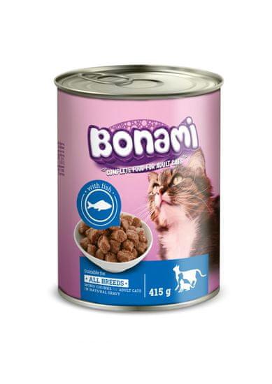 Bonami pločevinka za mačke, riba, 24 x 415 g