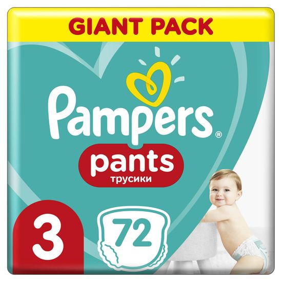 Pampers hlačne plenice Pants 3 (6-11 kg) Giant Pack 72 kosov