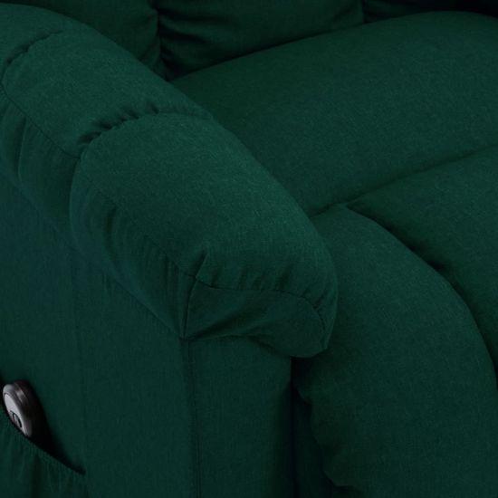 shumee Naslanjač s funkcijo vstajanja temno zeleno blago