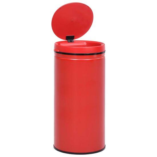 shumee Avtomatski smetnjak senzorski 70 L karbonsko jeklo rdeč