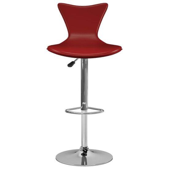 shumee Barski stolčki 2 kosa vinsko rdeče umetno usnje