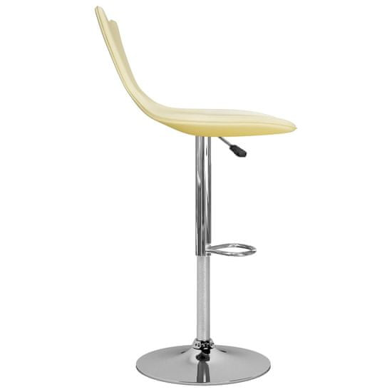 Greatstore Barski stolčki 2 kosa krem umetno usnje