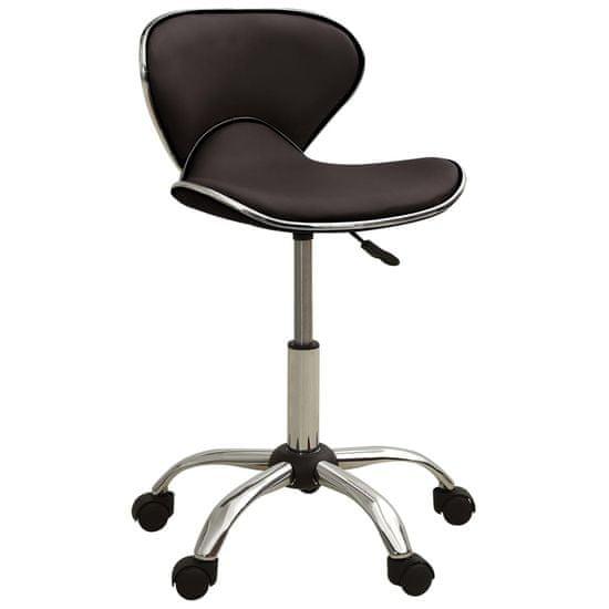 shumee Salonski stolček rjavo umetno usnje