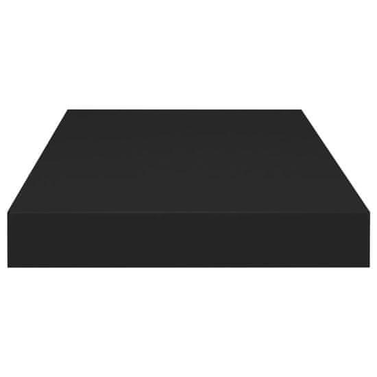 shumee Stenske police 4 kosi črne 50x23x3,8 cm MDF