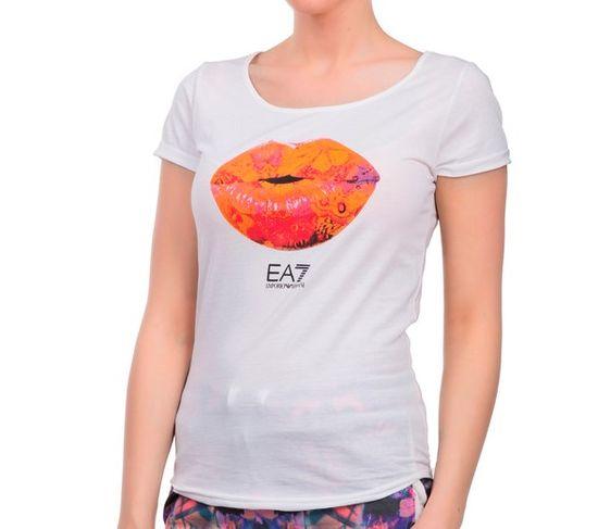 Emporio Armani Dámské triko Empori Armani bílé, Lips - XL