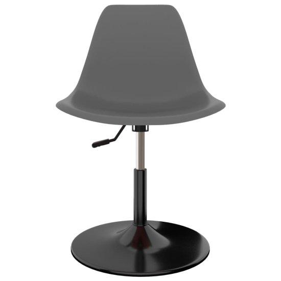shumee Vrtljivi jedilni stoli 2 kosa svetlo sivi PP