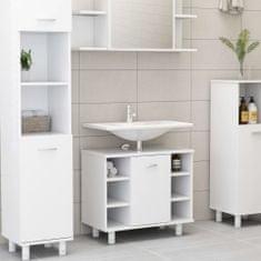 shumee fehér forgácslap fürdőszobaszekrény 60 x 32 x 53,5 cm