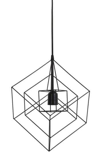 shumee Viseča svetilka Kubinka 25x25x27 črna