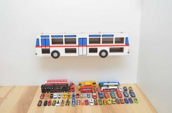 TeTo-design Police na autíčka Autobus Čechy set