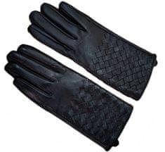 GOLDSUN Ženske usnjene rokavice - črne - M