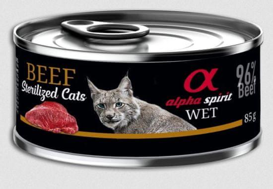 Alpha Spirit mokra hrana za sterilizirane mačke, govedina, 85 g