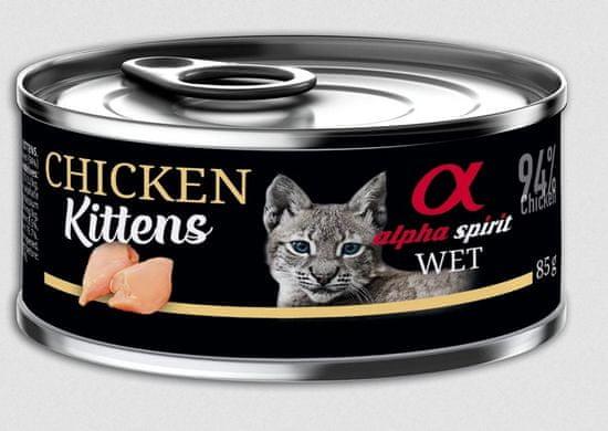 Alpha Spirit mokra hrana za mačiće, perutnina, 85 g