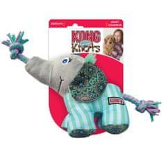 KONG Knots Carnival, igrača za pse, slon, M/L, vijolična
