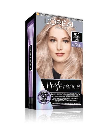 Loreal Paris Preference Cool Blondes barva za lase, 8.12 Alaska