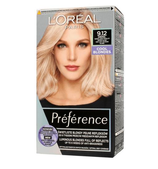 Loreal Paris Preference Cool Blondes barva za lase, 9.12 Siberia