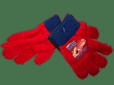 Cars Chlapecké červené pletené rukavice s autem Cars.