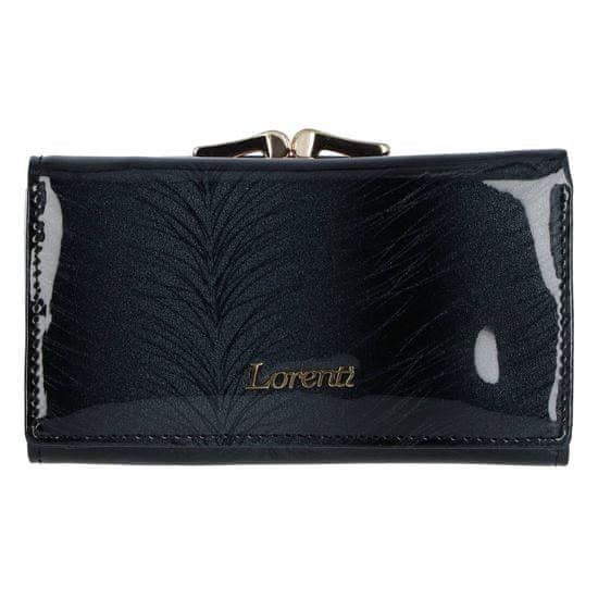 Lorenti Dámská kožená elegantní peněženka s kovovým rámečkem Judi, černá