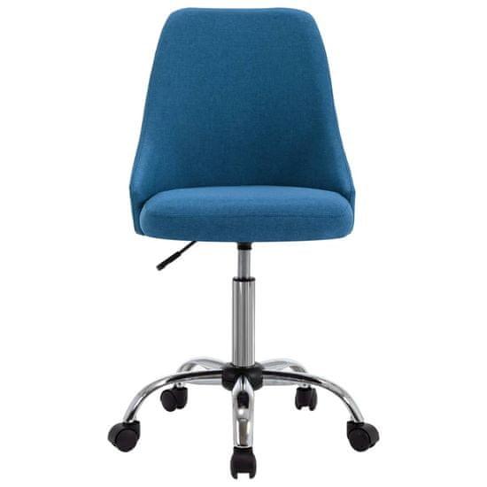 Petromila Kancelárske stoličky na kolieskach 2 ks modré látkové