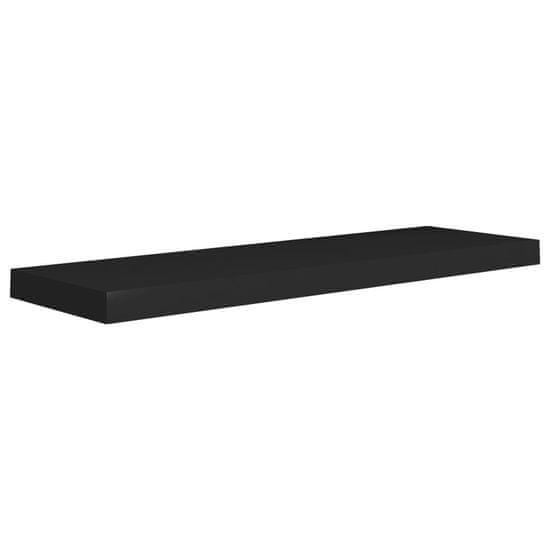 shumee Półki ścienne, 4 szt., czarne, 80 x 23,5 x 3,8 cm, MDF