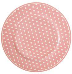 Isabelle Rose Dezertní talíř růžový s puntíky 20 cm
