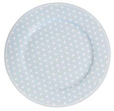 Isabelle Rose Dezertní talíř modrý s puntíky 20 cm