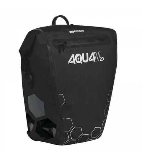 Oxford Boční brašna AQUA V20 QR, OXFORD (černá, s rychloupínacím systémem, objem 20l, 1ks)