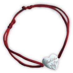 Praqia Zapestnica rdeče kabale z vrvico Babica KA6304