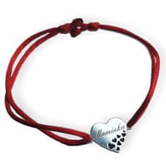 Praqia Zapestnica rdeče kabale z vrvico Mom KA6305