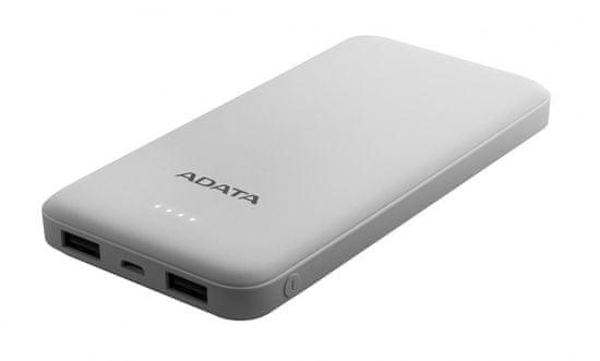 A-Data prenosna baterija PowerBank AT10000, 10000 mAh, bela