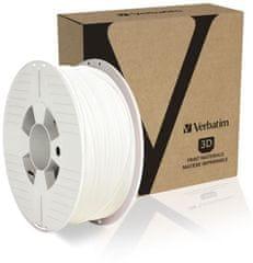 Verbatim tisková struna, PLA, 1,75mm, 1kg, bílá (55315)