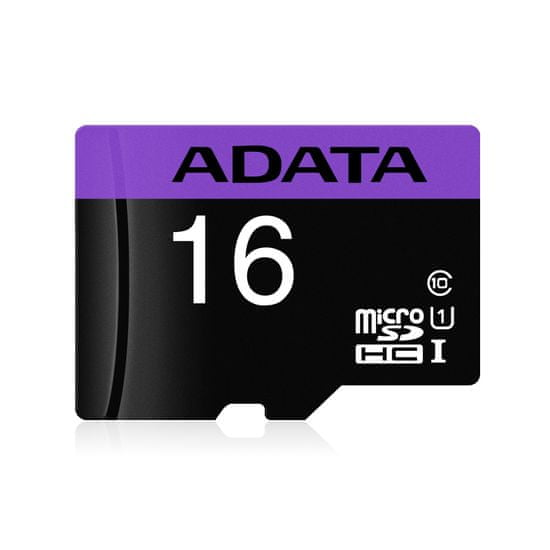 A-Data Premier microSDHC spominska kartica, 16 GB + SD adapter