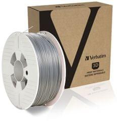 Verbatim tisková struna, PLA, 1,75mm, 1kg, stříbrná (55319)