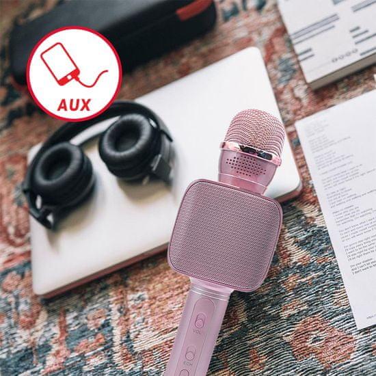 Forever BMS-400 mikrofon sa zvučnikom, Bluetooth, rozi
