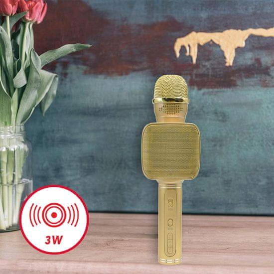 Forever mikrofon bezprzewodowy BMS-400, złoty
