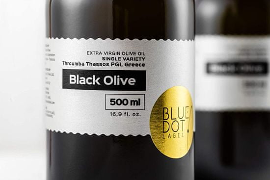 BLUE DOT LABEL Extra panenský olivový olej 500ml - BLACK OLIVE