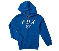 Fox dětská mikina Youth Legacy Moth Zip Fleece royal blue vel. YM