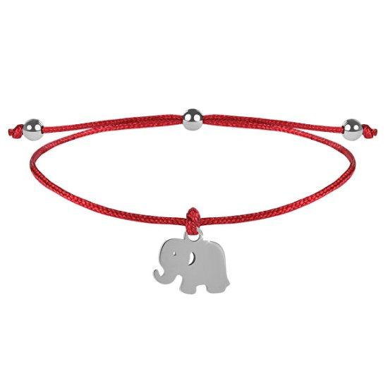 Troli Zsinór karkötő Elefánt piros / acél