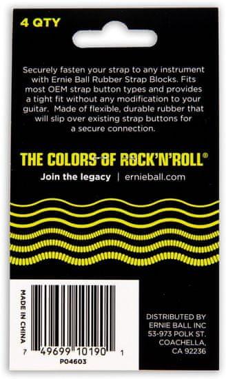 Ernie Ball 4603 Strap Blocks Black and Red 4 Pack - gumové podložky na pás - 4ks